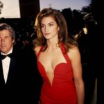 Cindy Crawford Red Versace Dress